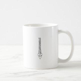 ONE COLOR SPINE CLASSIC WHITE COFFEE MUG