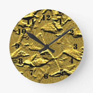 One colored abstract pattern round clock
