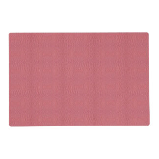 One colored diamond shape pattern laminated placemat