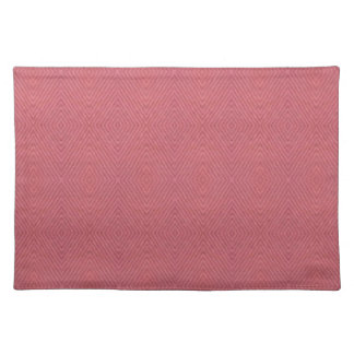One colored diamond shape pattern cloth placemat