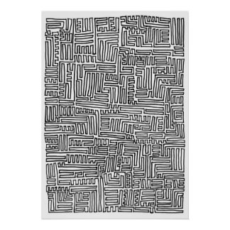 One-Continuous-Line Poster