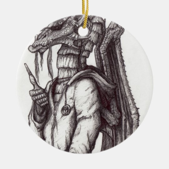 One Cool Dragon.jpg Ceramic Ornament