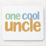 One Cool Uncle T-Shirt Mouse Pad