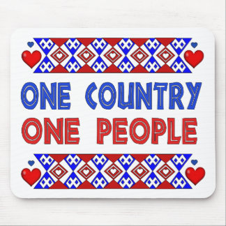 One Country One People Mouse Pad