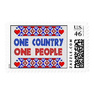 One Country One People Stamps