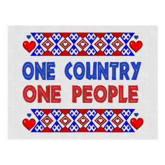 One Country One People Postcard