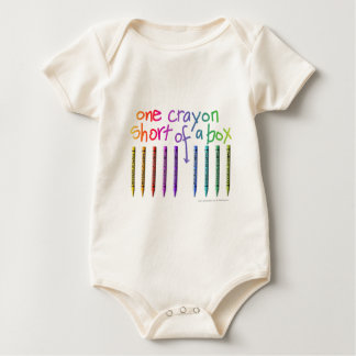ONE CRAYON SHORT OF A BOX BABY BODYSUIT
