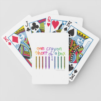 ONE CRAYON SHORT OF A BOX BICYCLE PLAYING CARDS