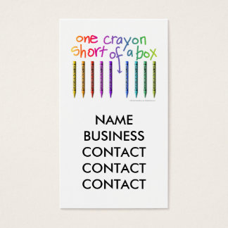 ONE CRAYON SHORT OF A BOX BUSINESS CARD