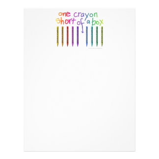 ONE CRAYON SHORT OF A BOX LETTERHEAD
