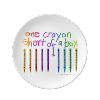 ONE CRAYON SHORT OF A BOX PLATE