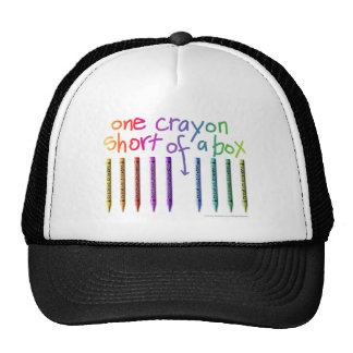 ONE CRAYON SHORT OF A BOX TRUCKER HAT