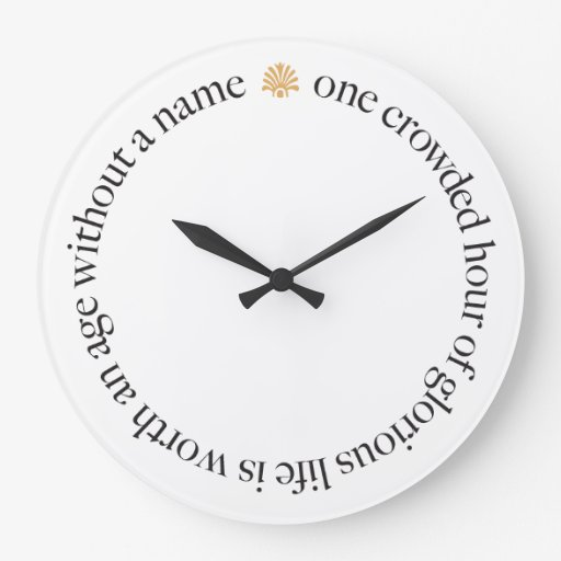 One Crowded Hour Wall Clock