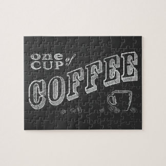 one cup of coffee CHALK ART Jigsaw Puzzle