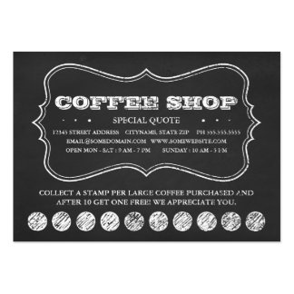 ONE CUP OF COFFEE chalkboard punch cards Large Business Cards (Pack Of 100)