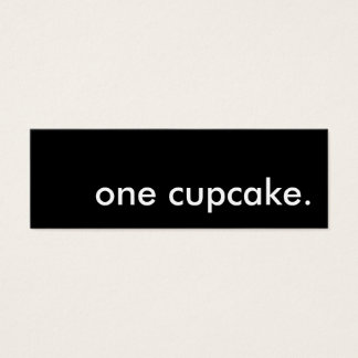 one cupcake. bakery coupon mini business card