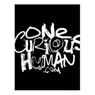 One Curious Human Postcard