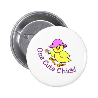 One Cute Chick Button