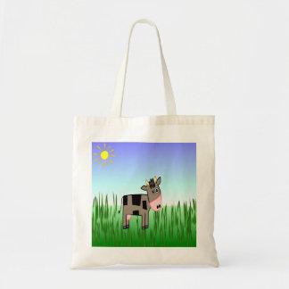 One Cute Chocolate Cow Designer Tote Bag