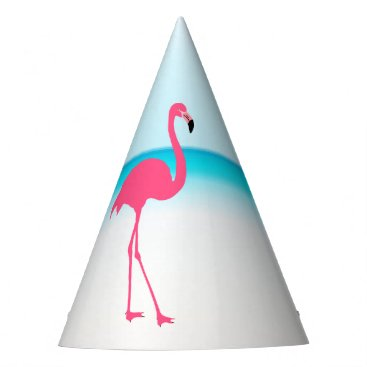 Beach Themed One cute pink flamingo on the beach party hat