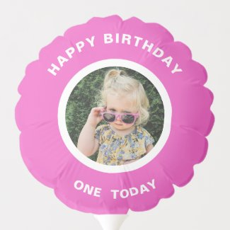 One Cute Princess 1st Birthday Personalized Photo Balloon