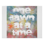 One Dawn at a Time Abstract Art Print