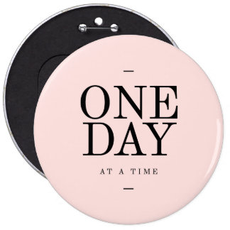 One Day Achieving Goals Quote Blush Pink Gift Pinback Buttons