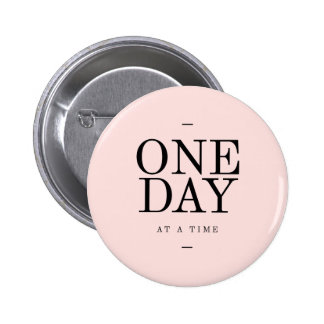 One Day Achieving Goals Quote Blush Pink Gift Button