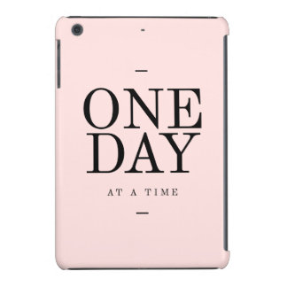 One Day Achieving Goals Quote Blush Pink Gift iPad Mini Retina Case