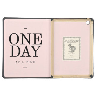 One Day Achieving Goals Quote Blush Pink Gift iPad Air Cover