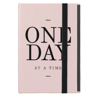 One Day Achieving Goals Quote Blush Pink Gift iPad Mini Case