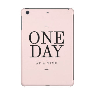 One Day Achieving Goals Quote Blush Pink Gift iPad Mini Retina Covers