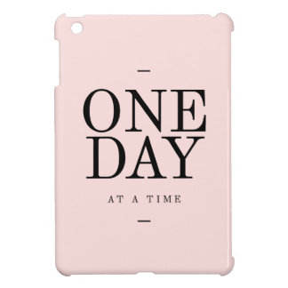 One Day Achieving Goals Quote Blush Pink Gift iPad Mini Covers