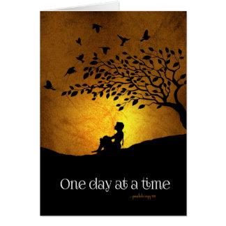 One Day at a Time (12 Step Recovery Female) Card