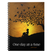 One Day at a Time (12 Step Recovery Female) Notebook