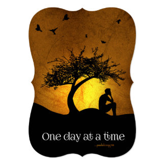 One Day at a Time (12 Step Recovery Male) Card