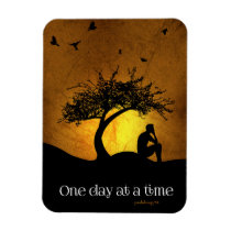 One Day at a Time (12 Step Recovery Male) Magnet