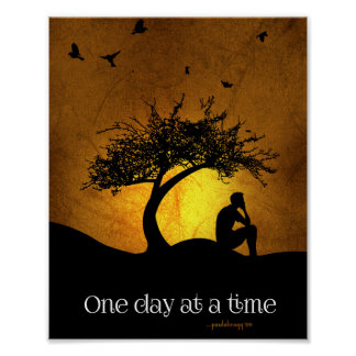 One Day at a Time (12 Step Recovery Male) Poster