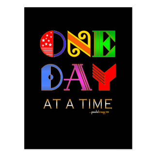 One Day at a Time (12 Step Recovery Program) Postcard