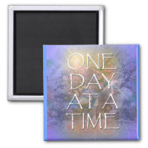 One Day at a Time Abstract Tree Magnet