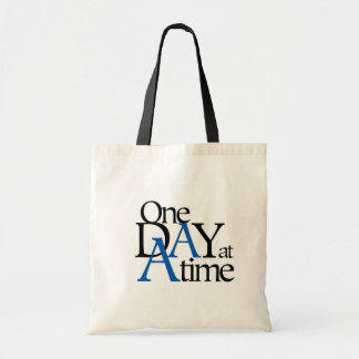one day at a time tote bags
