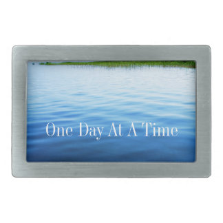 One Day At A Time Rectangular Belt Buckles