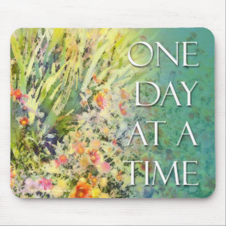 One Day at A Time Blanket Flower Mouse Pad