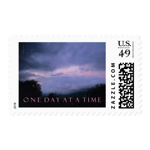 One Day at a Time Blue Pink Sky Postage