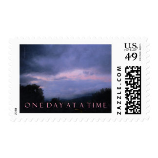 One Day at a Time Blue Pink Sky Stamps