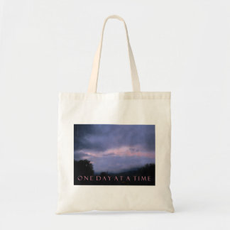 One Day at a Time Blue Pink Sky Tote Bag