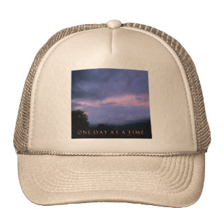 One Day at a Time Blue Pink Sky Trucker Hat