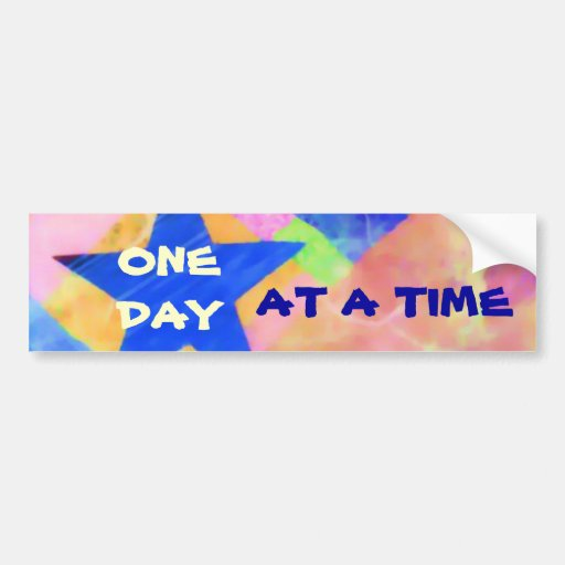 """One Day at a Time """"Blue Star"""" bumpersticker Bumper Stickers"""