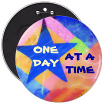 "One Day at a Time ""Blue Star"" button"