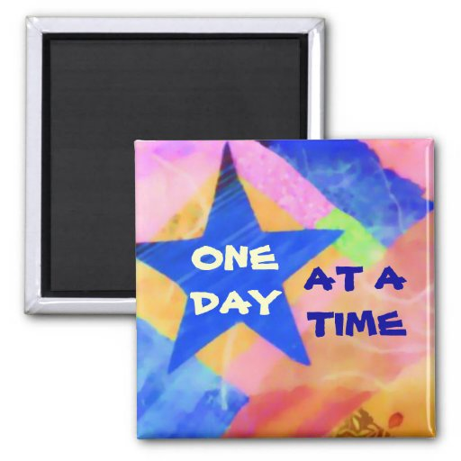 """One Day at a Time """"Blue Star"""" magnet"""